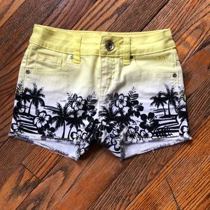 Girls Size 10 Justice Shorts Tropical Design